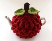 Raspberry Tea Cosy in Pure Merino Wool - Size Medium - an exclusive Tafferty Designs design - Ready to Ship