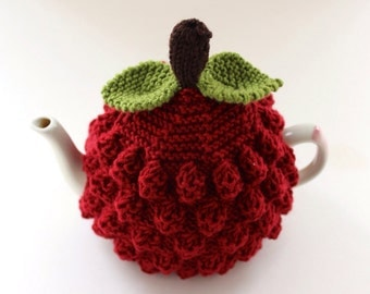 Raspberry Tea Cosy in Pure Merino Wool - Size Medium - an exclusive Tafferty Designs design - Ready to Ship