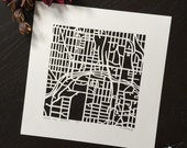 kansas city hand cut map
