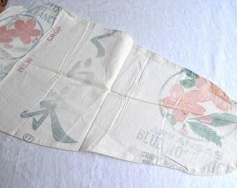 "Vintage Ironing Board Cover Made From Sakura Rice Sack - 53"" Long"