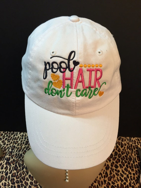 Pool Hair Don T Care Messy Hair Baseball Cap By