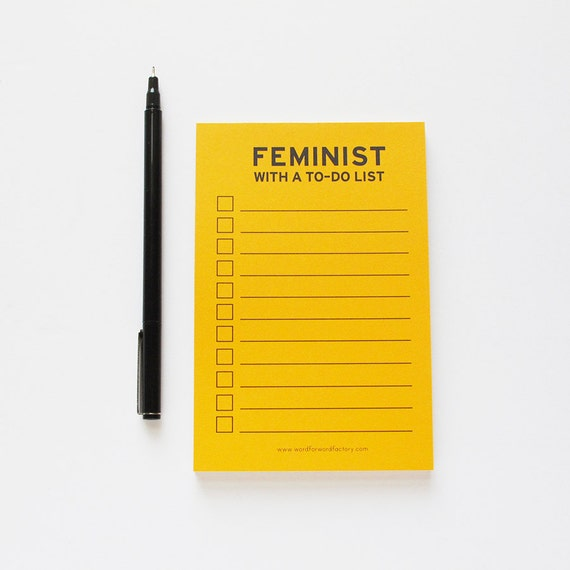 Feminist With a To Do List | Feminist Gift Guide