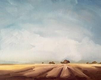 "After Harvest • original oil painting 5 x 7"""