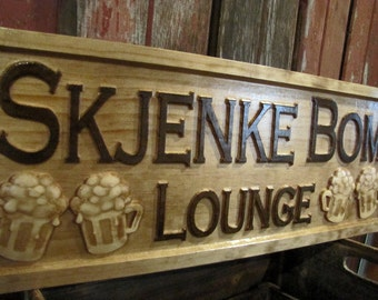 Personalized Bar Signs personalized wedding gift 3D beer Wood Sign Custom Bar Sign Wood Sign Gift for him her Groomsmen Gift lovejoystore