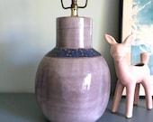 Vintage Studio Art Pottery Ceramic Lamp Lavender