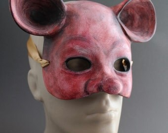 OOAK Handmade House Mouse, Critter Wall Mask for Halloween, Masquerade, Ren Faire - One of a Kind