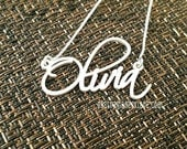 Dainty Name Necklace, Thin Name Necklace, Memorial Name Necklace, Free Hand Name Necklace, Handwritten Name Necklace, Personalized Custom