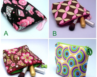 BIG SALE - Large flat bottom zipper pouch /cosmetic bag (padded) (ZL-GP3)