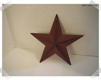 "Metal Dark Red/Black Color Star/5 and half"" wide/ Primitive/ Craft Supplies*"