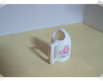 Ceramic Toothpick Holder/small / Iron Shape /Vintage*