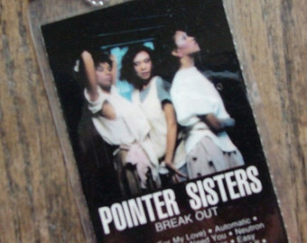 Pointer Sisters  Cassette Keychain-Tag