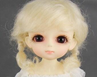 Fatiao - Dollfie Lati Yellow Pukifee 5-6 inch Mohair Doll Wig - Blonde