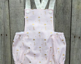 Flamingo First Birthday Sunsuit