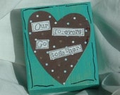 Engagement wedding Lovers altered art OOAK recycled wooden multi media art turquoise