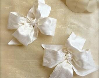 Silk Handmade Bows Matching Monogram Sashes and Monogram Dresses Juvie Moon Designs
