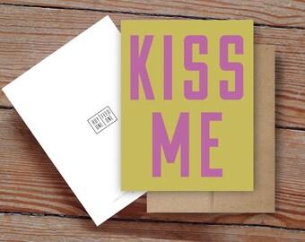 Kiss Me - Notecard