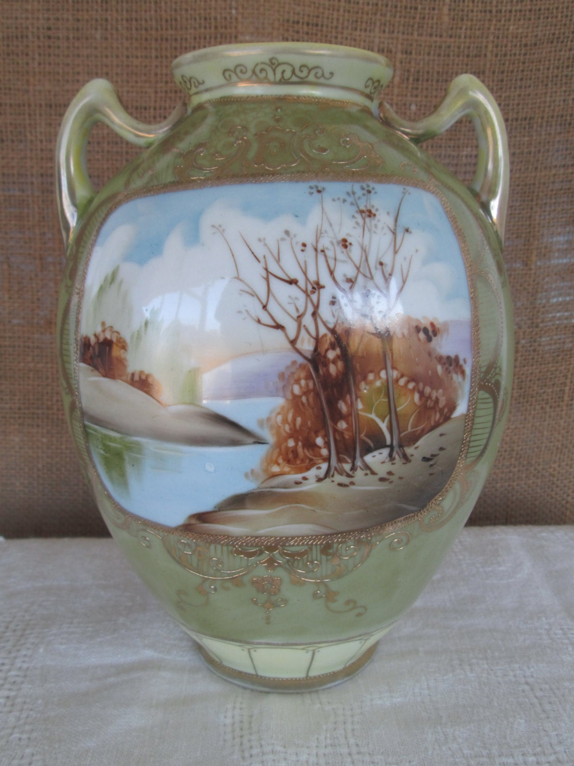 Antique scenic imperial nippon vase hand painted beautiful zoom reviewsmspy