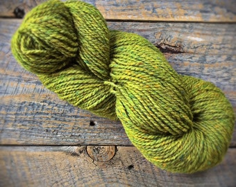 Yarn shop - Peace Fleece - Lily Pad - spring green wool knitting yarn - worsted weight - Chartreuse -knitting wool