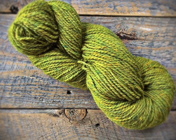 Peace Fleece Lily Pad - spring green worsted weight wool knitting yarn