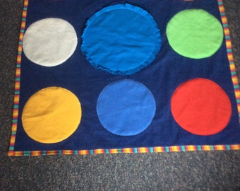 Play Rug Color Circles Mat Matching Game Infant Toddler Ages 12-24 Months