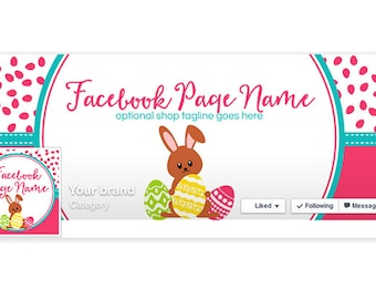 Timeline Cover & Profile Picture - Easter Facebook Timeline Cover - Social Media Cover - Easter 1