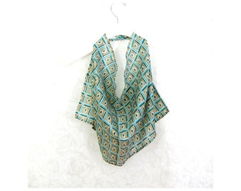 Ikat Silk Infinity Scarf Gift for Her Bib Scarf Spring Scarf Summer Scarf Lightweight Womens Scarf Sari Scarf Upcycled Eco Fashion OOAK