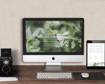 DIY Squarespace Website Template - Matching Marketing Set - Welcome Magazine Guide - W0008