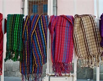 Big Striped Multicolored Scarves