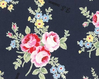 Flower Sugar Maison Spring 2016 Collection by Lecien Cotton Oxford Navy 40656-77