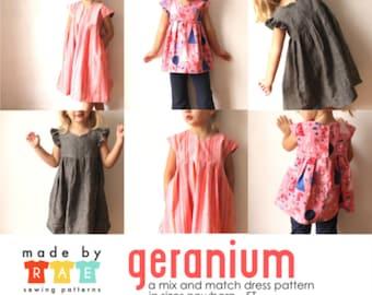 Made by Rae Geranium Children's Dress Pattern (paper)