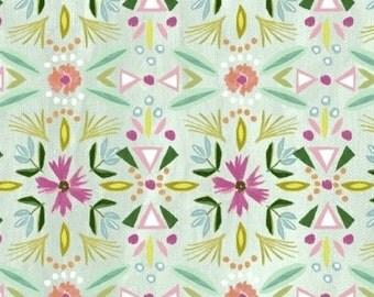 SALE - Windham Fabrics - Blush & Blooms Collection - Floral Stripe in Aqua