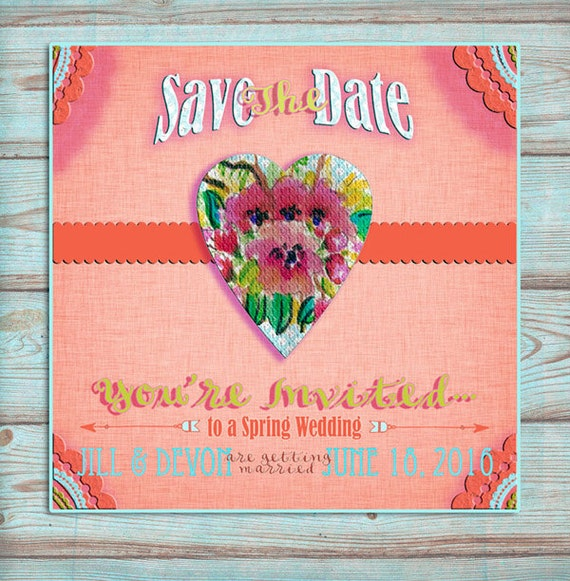 Rustic Wedding Save the Date, Save the Date Cards, Country Wedding, DIY Wedding Invitations, Spring Wedding, Trending on Etsy, Watercolor