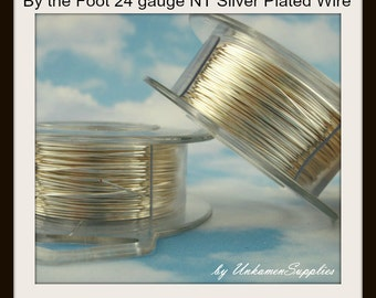 By the Foot 24 gauge Non Tarnish Silver Plated Wire - 100% Guarantee