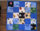 Bugs & Frogs Quilted Toddler Snuggle Blankie or Doll Blanket