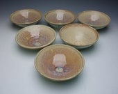 Set of handmade stackable porcelain bowls