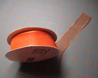 5 yards of Orange Ribbon - 7/8 inch wide by the yard