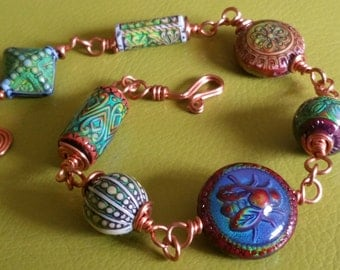Bohemian Colour Changing Copper Bracelet