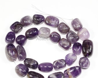"""AAA Natural Amethyst Gemstones Smooth Round Nugget Loose Beads ~13x10mm beads  (1 strand, ~16"""") GZ4-9"""