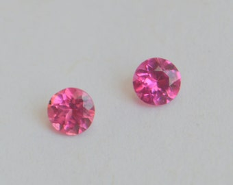 Pink Spinel 3.5mm Round Matched Pair from Burma