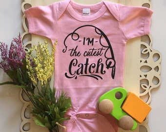 I'm the Cutest Catch - Bodysuit or Toddler Tee - Available in various colors and Sizes