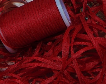 2mm Ruby 100% silk Ribbon 25 yds