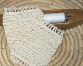 Eco Friendly Woven Coasters - Two Handwoven Mug Rugs in Cream - Creamy Handwoven Coasters