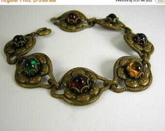 Love Yourself Sale Art Deco Czech Glass Bracelet
