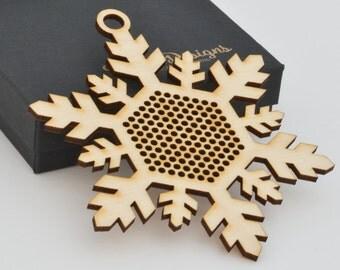 Cross Stitch Snowflake Ornament - Stitchable Christmas Tree Decoration BSOS01-03