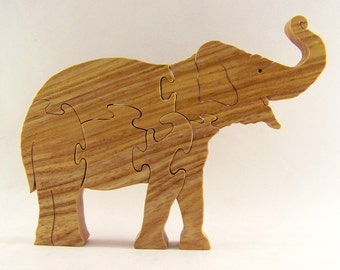 Indian Elephant Wood Puzzle