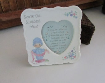 Precious Moments Picture Frame – You're the Sweetest Friend – Tabletop Picture Frame – Vintage Precious Moments Collectible Frame