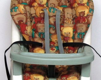 Graco  high chair cover, baby accessory, replacement cover, nursery decor, high chair cushion, kids and baby, feeding chair pad, teddy bears
