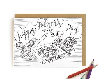 Pizza Dad - letterpress card