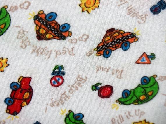 Kids cotton knit fabric transportation print fabric for Knit fabric childrens prints