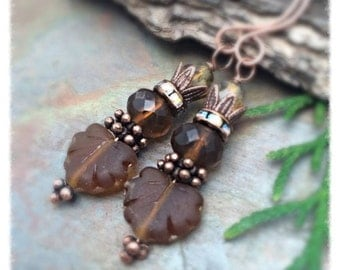 Do it Yourself, Brown Sugar Maple Earring Kit, or Have it Made for You